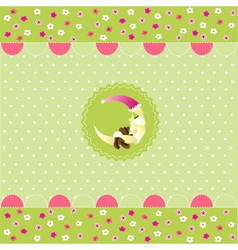 seamless baby pattern baby card vector image