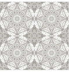 Seamless mandala zentangl seamless coloring vector