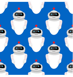seamless pattern with robot vector image