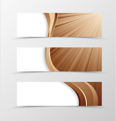 set banner vortex design vector image