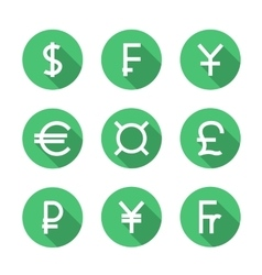 Set symbols of world currencies vector