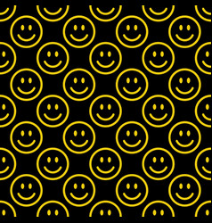 Smile icon pattern happy faces on white vector
