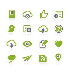Social sharing icons natura series vector