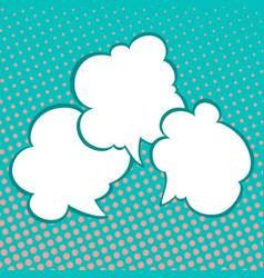 speech bubbles on pop art background vector image