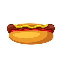 Stylized hot dog vector