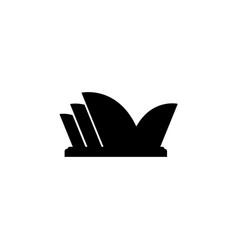 Stylized image sydney opera house icon vector