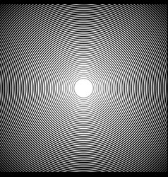 sun rays circle rays black background spiral vector image