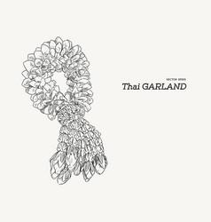 Tha tradition garland flower vector