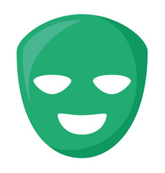 theatrical happy masks isolated icon vector image
