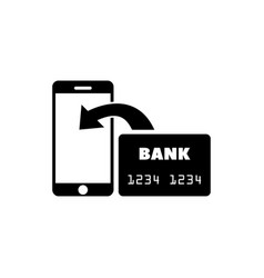 transfer nfc payment flat icon vector image