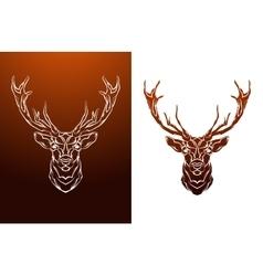 Vintage Deer label Retro design graphic vector