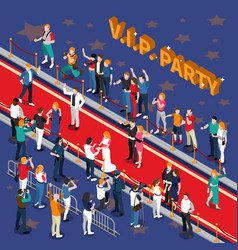 Vip party isometric vector