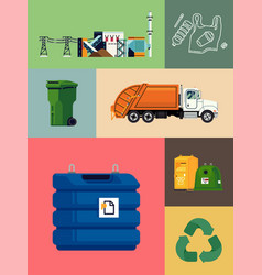 Waste energy recycling and reducing set ideal vector