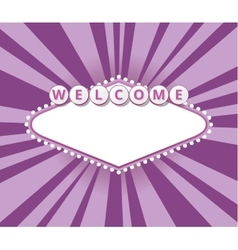 Welcome sign background vector