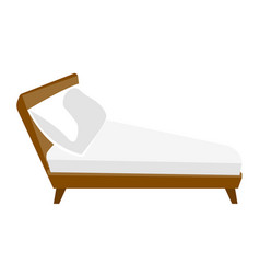 bed with white linen cartoon vector image