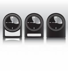 black clocks vector image vector image