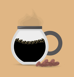 coffee maker glass beans vector image