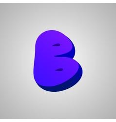 Letter b comic style font eps10 vector