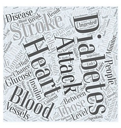 Link between diabetes heart attack and stroke word vector