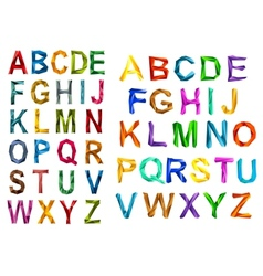 Colorful origami alphabet letters sets vector image