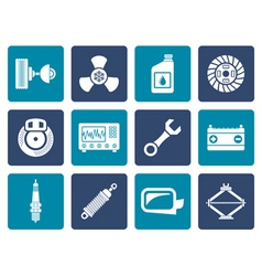 Flat Car Parts and Services icons vector image vector image