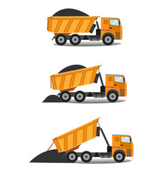 heavy tipper delivered coal vector image