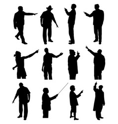 people pointing showing vector image vector image
