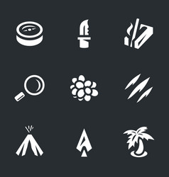 set of survival icons vector image vector image