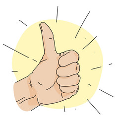 thumb up simple vector image vector image