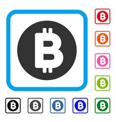 bitcoin framed icon vector image