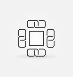 block chain concept icon or symbol vector image vector image