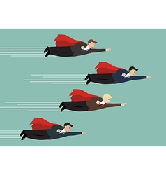 businessman superhero fly competition vector image vector image