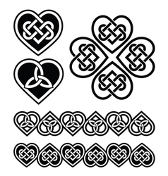 Celtic heart knot - symbols set vector