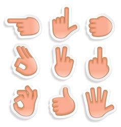 Hand Gestures Icon Set 2 vector image