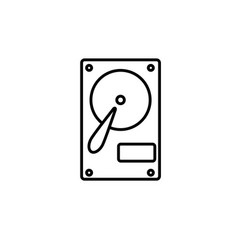 hard disk hdd icon vector image
