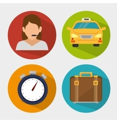 transport service design vector image vector image