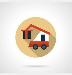 cargo loader beige round icon vector image