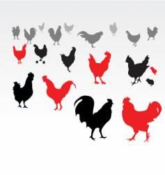 chicken life vector image vector image