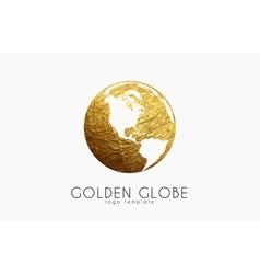 Globe sign Golden globe logo Creative logo vector image