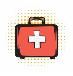 Medicine chest comics icon vector image