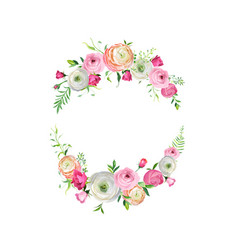 spring and summer floral frame for decoration vector image vector image