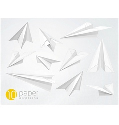 10 paper airplains vector