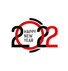 2022 happy new year modern graphic design vector