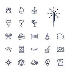 22 celebration icons vector
