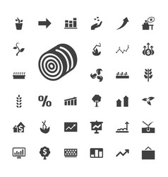 33 growth icons vector