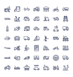 49 vehicle icons vector