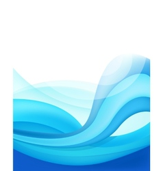abstract blue wavy water background vector image vector image