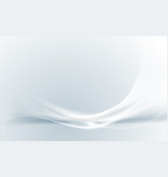 abstract modern futuristic white wavy background vector image