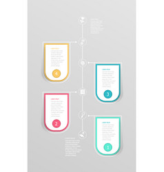 Abstract vertical timeline infographic element vector