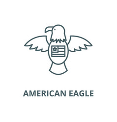 american eagle line icon outline concept vector image